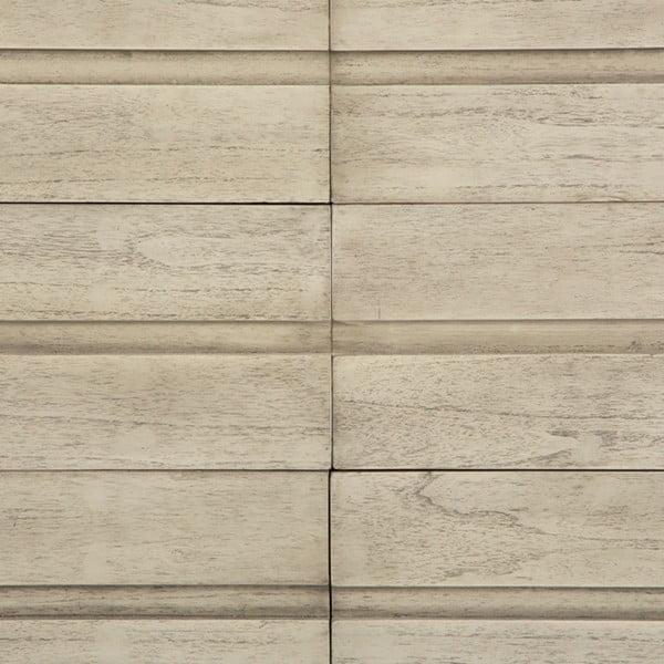 Šedá komoda se šuplíky z lakovaného dřeva Thai Natura Chest, 125 x 80 cm