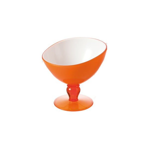 Oranžový pohár na dezert Vialli Design Livio, 180ml