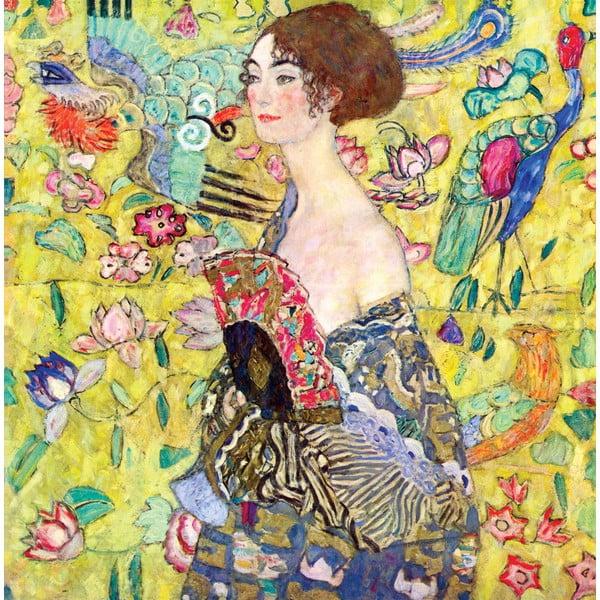 Gustav Klimt - obraz Lady with Fan, 80x80 cm