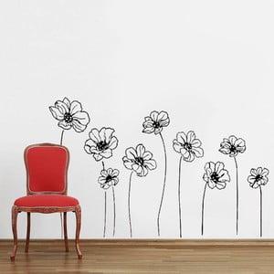 Samolepka na stěnu 9 Flowers, 60x90 cm
