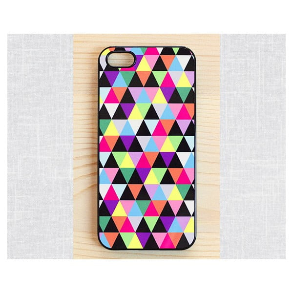 Obal na Samsung Galaxy S3, Joyful Multicolored Triangle/black
