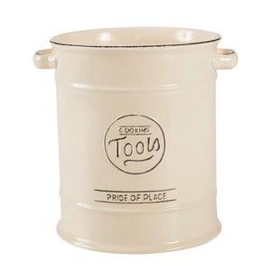 Doză ceramică pentru ustensile de bucătărie T&G Woodware Pride of Place, crem