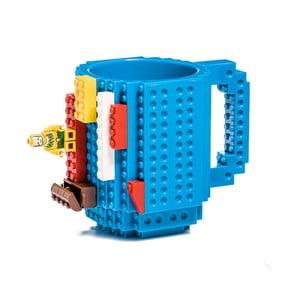 Modrý plastový hrnek s motivem LEGO s kostičkami Just Mustard, 350ml