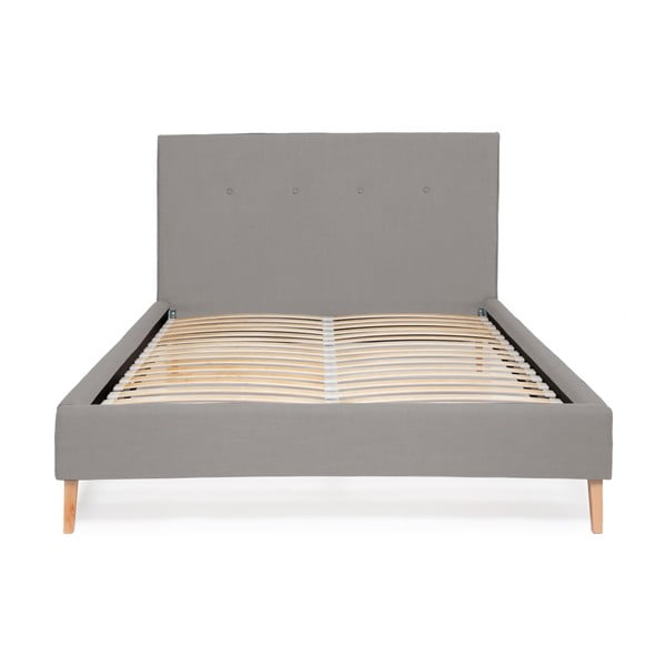 Svetlosivá posteľ Vivonita Kent Linen, 200 × 180 cm