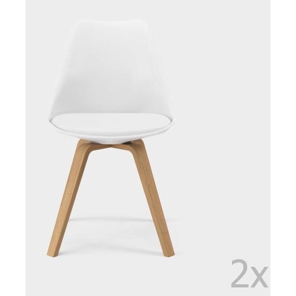 Sada 2 bílých jídelních židlí Tenzo Gina