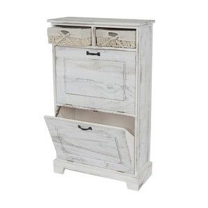 Botník Shabby Cabinet, bílý
