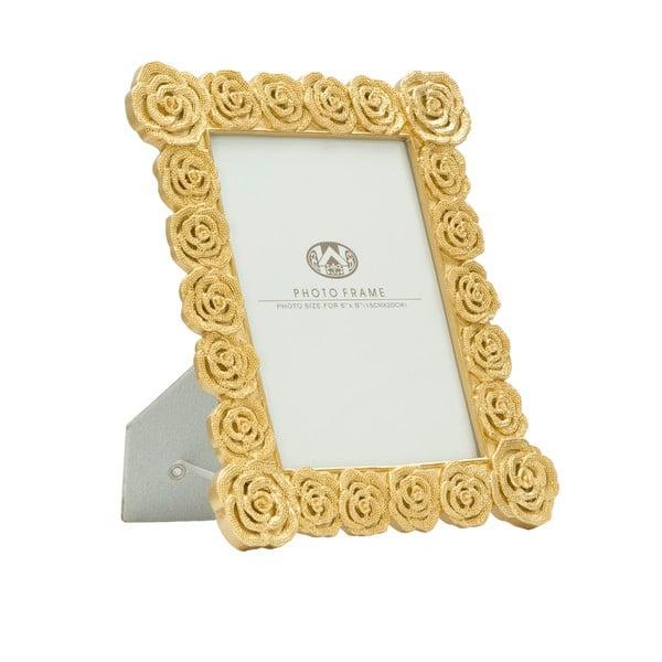 Roses aranyszínű, asztali képkeret, 15 x 20 cm - Mauro Ferretti