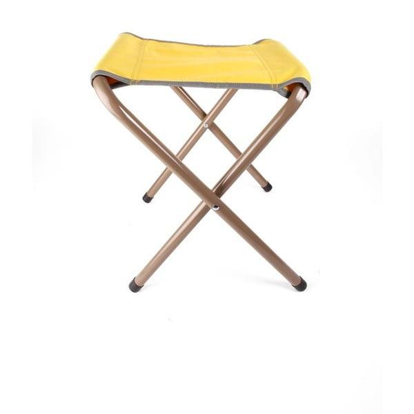 Žlutá skládací židlička Kikkerland