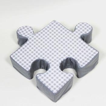 Pernă Puzzle Grid, gri imagine