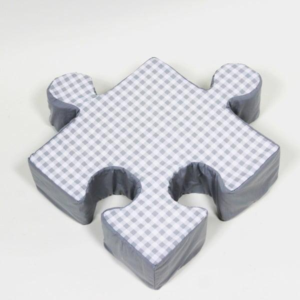 Pernă Puzzle Grid, gri