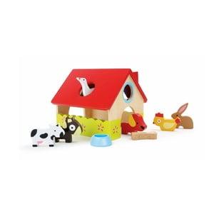 Dřevěný domeček na hraní s figurkami Legler Farm