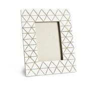 Světle šedý keramický fotorámeček Simla Diamond, 23x18cm