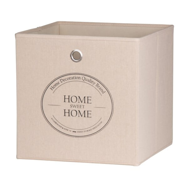 Béžový úložný box  Intertrade Alfa Home Sweet Home