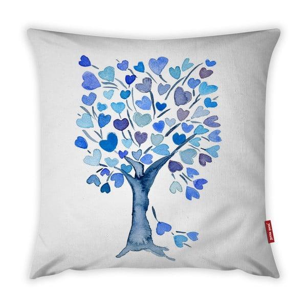 Față de pernă Vitaus Love Tree Azul, 43 x 43 cm