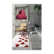 Vysoce odolný koberec Webtappeti Hearts, 58x80cm