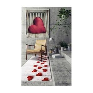 Covor foarte rezistent Webtappeti Hearts, 58 x 80 cm