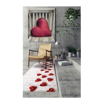 Covor foarte rezistent Webtappeti Hearts, 58 x 240 cm de la Floorita