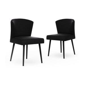 Sada 2 černých židlí černými nohami My Pop Design Richter