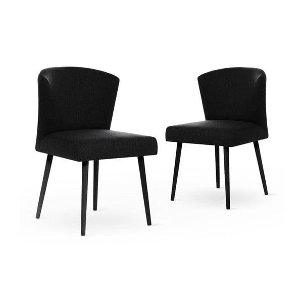 Černá židle s černými nohami My Pop Design Richter