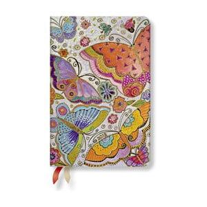 Diář na 2018 s horizontálním rozložením Paperblanks Flutterbyes Mini