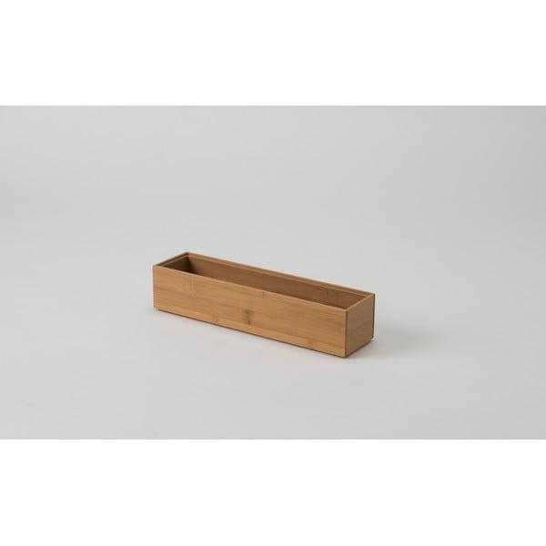 Organizator din bambus Compactor Woody 30 x 7,5 x 6,35 cm