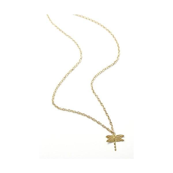 Náhrdelník Small Dragonfly, zlatý
