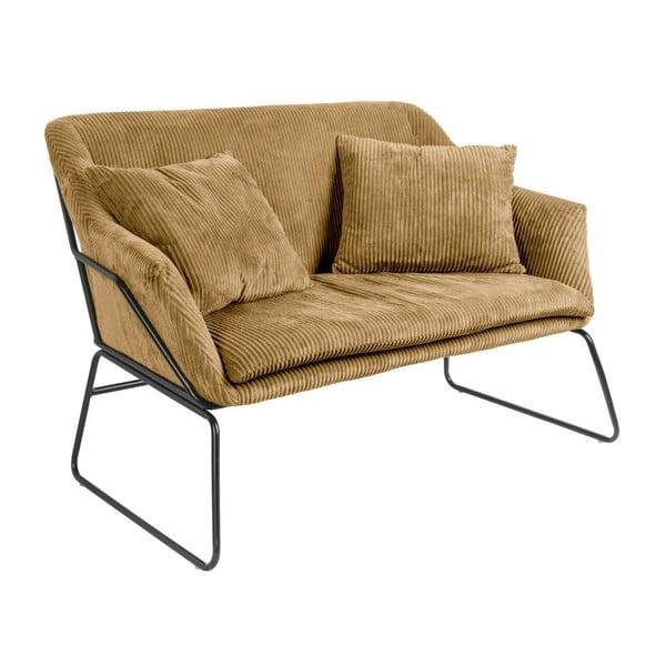 Brązowa sofa 2-osobowa Leitmotiv Glam