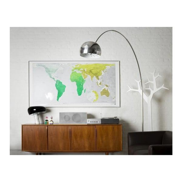 Harta lumii Huge Future Map, 196x100 cm, verde