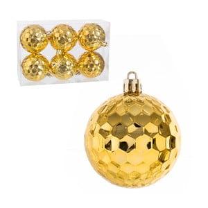 Set 6 globuri pentru Crăciun Unimasa, auriu