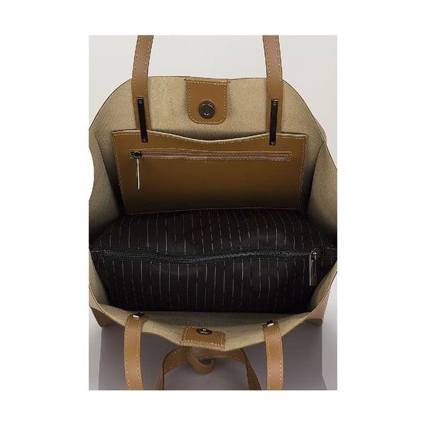 Kožená kabelka Giorgio Costa 15015 Cognac W