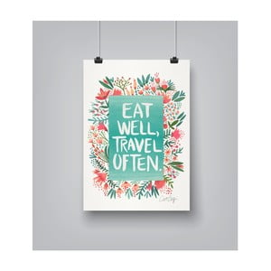 Poster Americanflat Eat Well, 30 x 42 cm