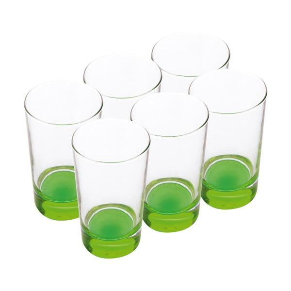 Sada skleniček, 460 ml, zelené