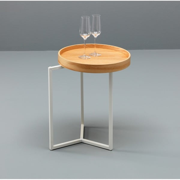 Hnědý odkládací stolek Design Twist Tallin