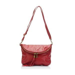 Tmavě červená kožená kabelka Lisa Minardi Renae