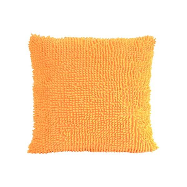 Střapatý polštář, oranžový