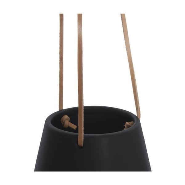 Černý závěsný květináč PT LIVING Skittle, ⌀ 12,2cm