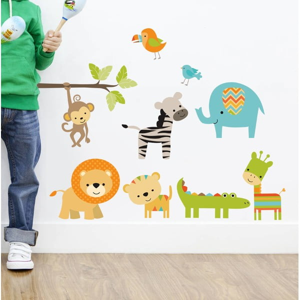 Dekorativní samolepka na zeď Color Animals