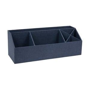 Modrý stolní organizér na psací pomůcky Bigso, 33,5 x 12,5 cm