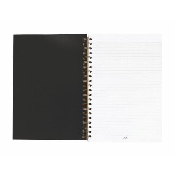 Zápisník A4 s kroužkovou vazbou Portico Designs Palm Leaves, 240 stránek