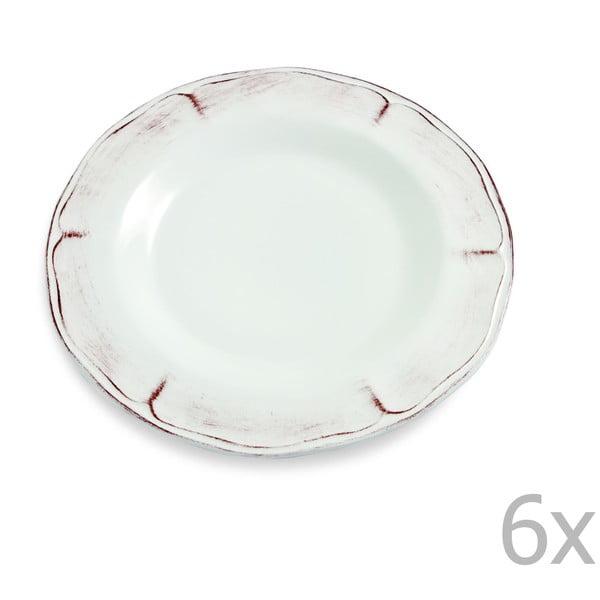 Sada 6 dezertních talířů Rustica, 22 cm