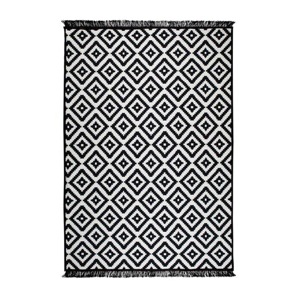 Čierno-biely obojstranný koberec Helen, 140×215 cm