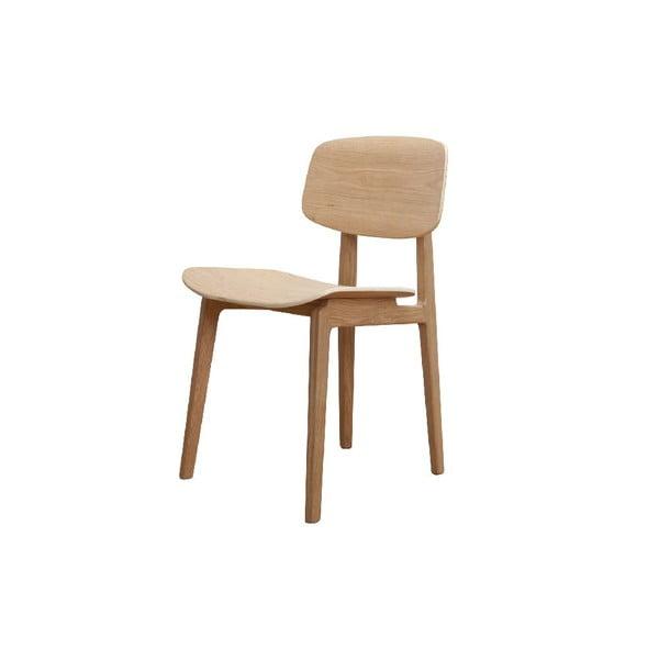 Přírodní jídelní židle z dubového dřeva NORR11 NY11