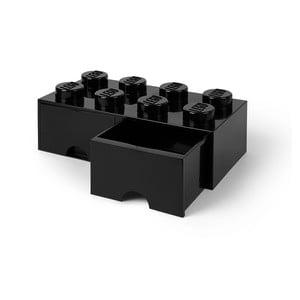 Cutie depozitare cu 2 sertare LEGO®, negru