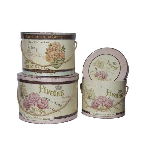 Set 3 krabic Antic Line Pivoine
