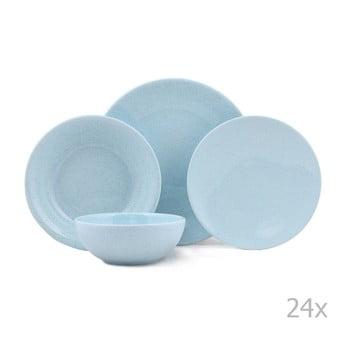 Set 24 piese de veselă din porțelan Kutahya Fantine, albastru poza