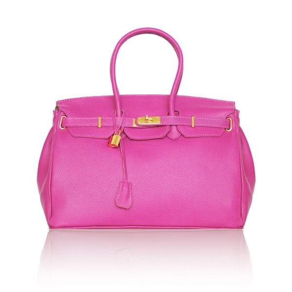 Kožená kabelka Emdo, růžová