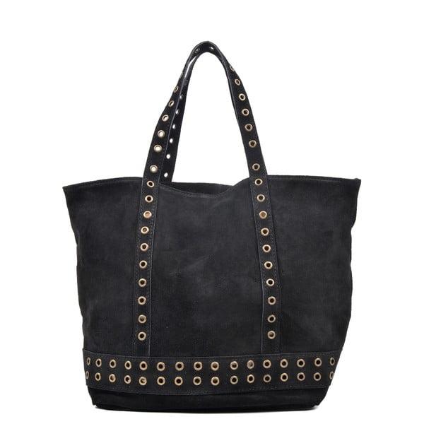 Czarna skórzana torebka Luisa Vannini Delfino