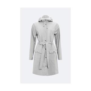 Šedý dámský plášť s vysokou voděodolností Rains Curve Jacket, velikost L/XL