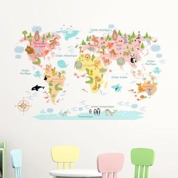 Autocolant de perete Ambiance Baby World Map de la Ambiance