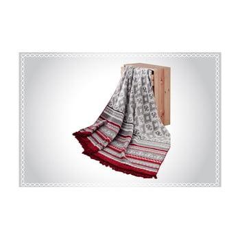 Pătură din amestec de bumbac Aksu Mistic Stripe, 200 x 150 cm de la Armada